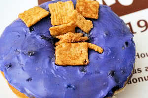 Blueberry Toast Crunch Donut