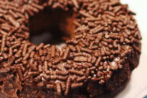 Chocolate Sprinkled Chocolate Donut
