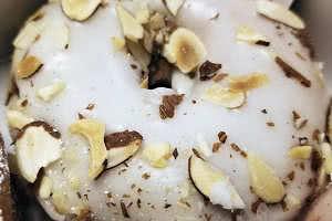 Toasted Almonds with Glaze Donut