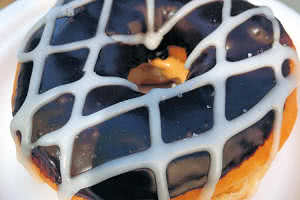 Chocolate Cookie Dough Donut