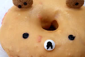 Orange Sherbet Bear Donut