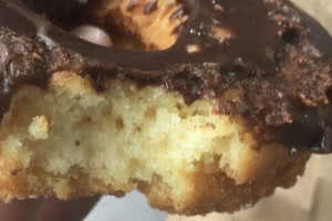 Chocolate Frosted Cake Donut